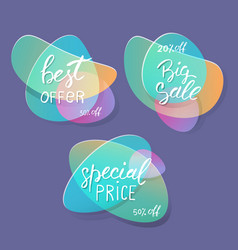 sale badges and special offer tags creative vector image