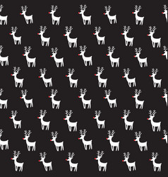Seamless pattern with rein deers vector