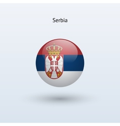 Serbia round flag vector