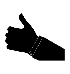 Thumb up hand gesture icon image vector
