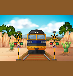 train on the track vector image vector image