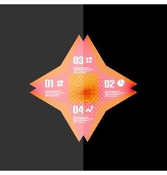 Vintage retro geometric infographic banner vector