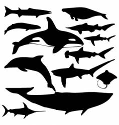 water animals vector image
