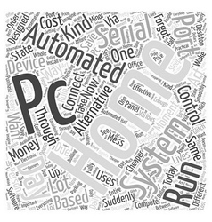 Pc serial port home automation word cloud concept vector