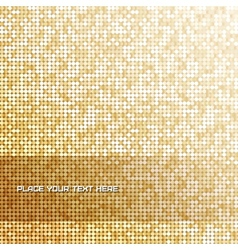 Seamless background with shiny golden paillettes vector image