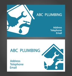 Design business cards for plumbers vector