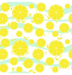 Lemons slices seamless pattern splash vector