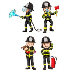 A simple sketch of firemen vector image