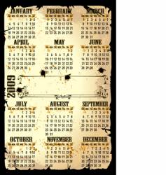 calender of 2009 vector image