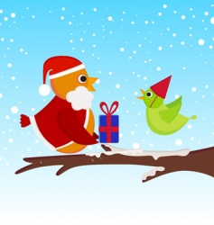 Christmas bird vector image
