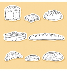 set of bread v vector image
