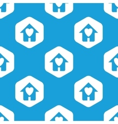 Beloved house hexagon pattern vector