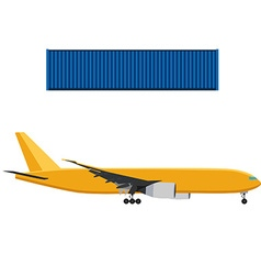 Airplane and container vector