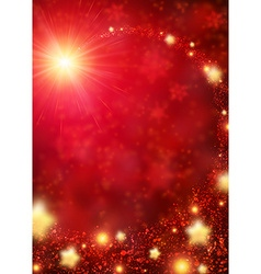 Red sparkling background vector