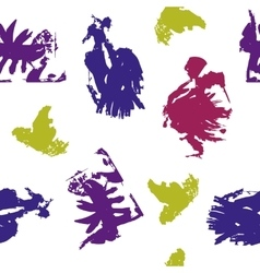 Colored blots on white background vector
