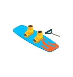 Water board isometric 3d icon vector