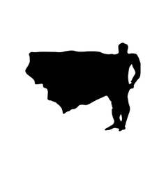 Superhero man silhouette vector