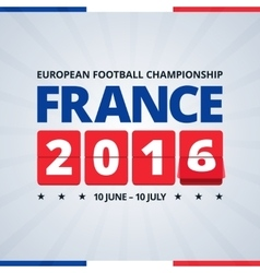 France 2016 euro footbal cup poster vector