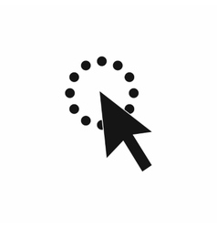 Click icon simple style vector