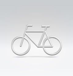 Silver bike icon over white vector image