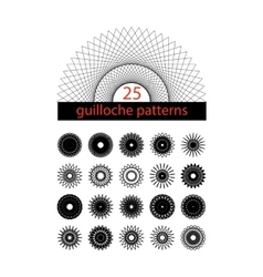 Guilloche symbols set spirograph isolated vector