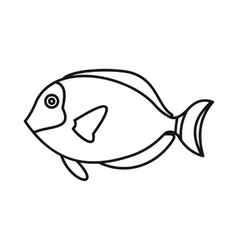 Surgeon fish icon outline style vector