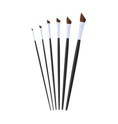 Angular artist paint brush stationary flat design vector