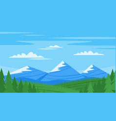 background with rocky mountains vector image
