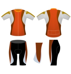 Brown sports cycling vest vector