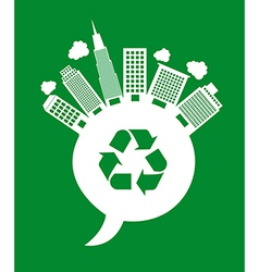buildings recycle vector image vector image