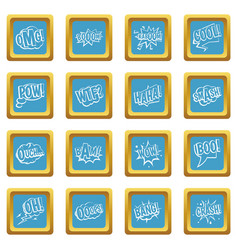 comic colored sound icons azure vector image vector image