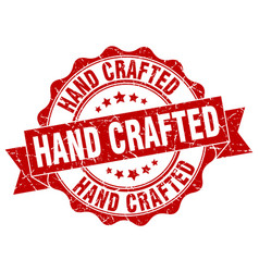 Hand crafted stamp sign seal vector