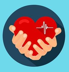 Heart in the hands 2 vector