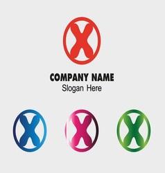 Letter X alphabet logo letter X icon vector image