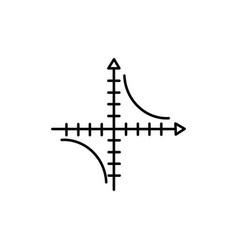 Mathematics axis icon vector