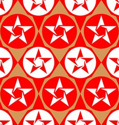 Modern seamless diamond pattern with stars vector image vector image