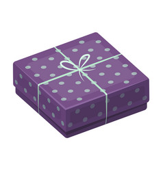 purple gift for polka dots gift wrap on holiday vector image vector image