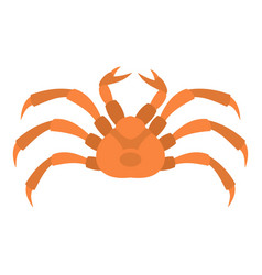 Raw crab icon isolated vector