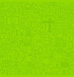 real estate line tile pattern vector image vector image