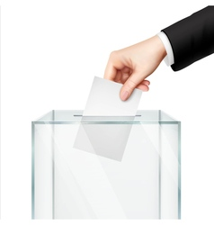 Realistic voting concept vector