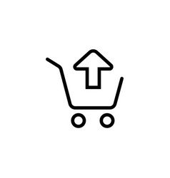 remove from shopping card trolley icon vector image