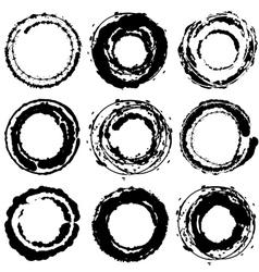 Round strokes vector image