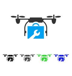 Service drone flat icon vector