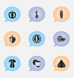 set of 9 editable kitchenware icons includes vector image