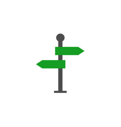 Signpost solid icon navigation road sign vector