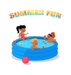Summer Fun Concept in Flat Design vector image vector image