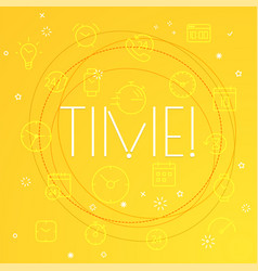 time concept different thin line icons included vector image