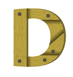 wood letter D vector image vector image