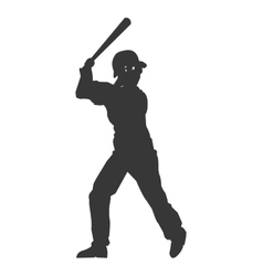 Baseball player icon vector