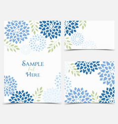 Floral invitations vector